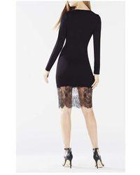 iBlues Bcbgmaxazria Lace-Trim Slip Dress XXS Negro