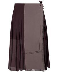 Chloé - Tie-up Skirt - Lyst
