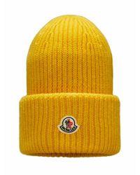 Moncler Rib-knit Beanie - Geel