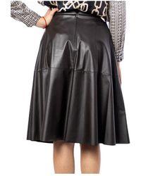 Marella Skirt Faux-Leather - Marron