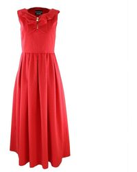 Louis Vuitton Sleeveless Long Dress Zip Neck - Rood