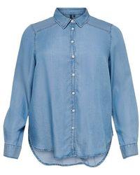 Only Carmakoma Shirt - Blauw