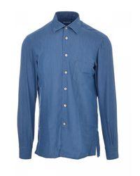 Kiton Camicia Nerano - Bleu