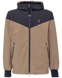 Brunello Cucinelli Windbreaker Jacket - Blauw