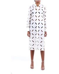 Lanvin Rwto699y4375 Long Dress - Wit
