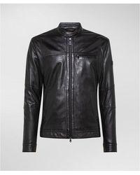 Peuterey Nappa Biker Jacket - Zwart