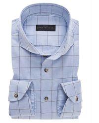 John Miller Slim Fit Overhemd - Blauw