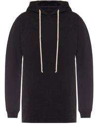 Rick Owens Long sweatshirt - Noir