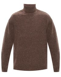 Samsøe & Samsøe Ribbed Turtleneck Sweater - Bruin