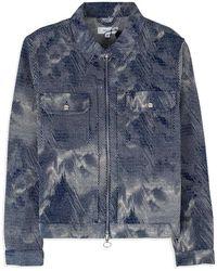 Soulland Nelson Wester Jacquard Jacket - Blu