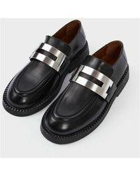 Marsèll Loafers with barrette Negro