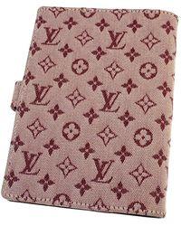 Louis Vuitton Agenda Mini Lin con monogramma - Rosso