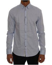 Frankie Morello Casual Cotton Regular Fit Shirt - Blu