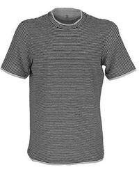 Brunello Cucinelli - T-shirt girocollo slim fit - Lyst