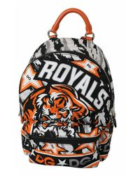 Dolce & Gabbana Tiger Print Casual School Backpack - Meerkleurig