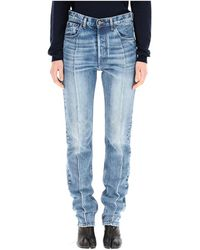 Maison Margiela Hoge Taille Slanke Jeans - Blauw