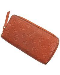 Louis Vuitton Zippy Portemonnee - Oranje