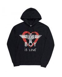 BOY London Boy Is Love Hoodie - Schwarz