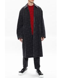 Balenciaga - Washed-out denim coat Gris - Lyst