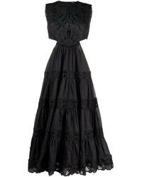 Zimmermann Cut-out Detail Sleeveless Dress - Zwart