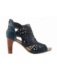Laura Vita Alcbaneo 0492 Laarsjes Blauw - Zwart