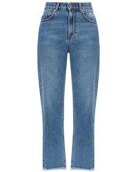 MSGM Jeans With Logo - Blauw