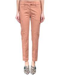 Dondup Pantaloni A Sigaretta Modello Perfect - Roze
