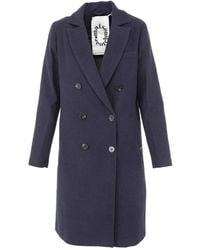 Scotch & Soda - Double Breasted Coat - Lyst