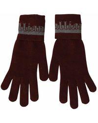 John Galliano Maroon Gloves - Bruin
