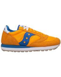 Saucony Men's Shoes Suede Trainers Sneakers Jazz - Oranje