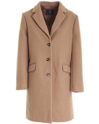 Paolo Fiorillo Capri Single-breasted Coat - Bruin