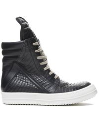 Rick Owens Geobasket Sneaker - Zwart