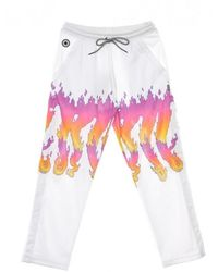 Octopus Pantalone Tuta Flames - Weiß