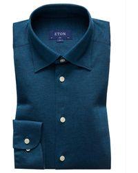 Eton Slim Fit Overhemd - Blauw