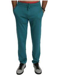 Dolce & Gabbana Silk Sweatpants - Blau