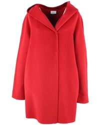Clips Collar coat - Rouge