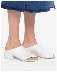 Marsèll Leather mules Shoes - Bianco