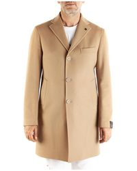 Tagliatore Single-Breasted Coat - Orange