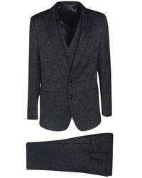 Dolce & Gabbana Floral jacquard Martini suit - Schwarz