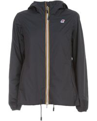 K-Way Marguerite Poly Jersey Jacket - Blauw