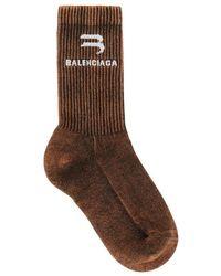 Balenciaga Terry-towelling Socks - Bruin