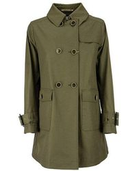 Herno Double Breasted Trench Coat - Groen
