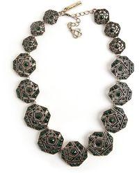 Oscar De La Renta Vintage Collier géométrique - Vert