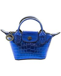 Longchamp Le Pliage Cuir Crossbody Bag - Blauw