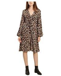 By Malene Birger Freesios leopard print dress - Marrone