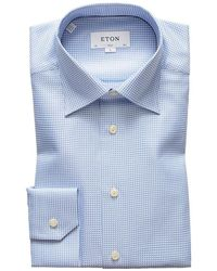 Eton Slim Fit Shirt - Blauw