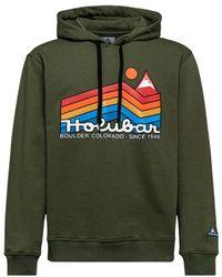 Holubar Hoodie Jj20 Rainbow - Grün
