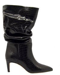 Paris Texas Curled Boots - Zwart