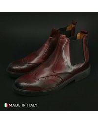 DUCA DI MORRONE Chelsea boots- 101_Crust Rojo