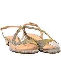Billionaire LOW Lurex Sandal With Pearls Gris